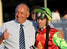 Robert Heathcote and Jimmy Orman shown celebrating a city success at Doomben on Saturday. They are  loading up Lordag and heading to Ballina. He could be the real surprise packet of the Cup.(see race 7)