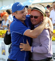 What it is like to have the Magic Millions winning feeling. Trent and Toby Edmonds celebrate Houtzen's win in last year's 2yo Classic. Who is it going to be this year?