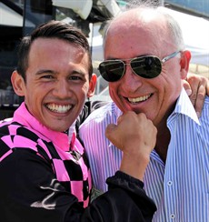 Rob Heathcote (pictured above with Matty McGillivray) is going to Toowoomba? I hope he has an up to date GPS and doesn't get lost on the way up the hill! I think that his two runners are the ones to beat here in the Toowoomba Guineas – Zofonic Dancer (1) and Trommelschlagen (2).I am hoping that the McGillivray can land the knockout blow. If he can get him Zonfonic Dancer home, it will be five wins on the Zoffany gelding from seven rides!
