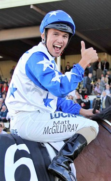 Happiness is … Matthew McGillivray brings Havasay back to scale following their victory in the Ramornie