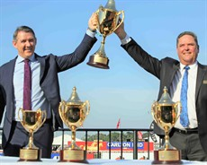 Chief Minister the Honourable Michael Gunner and Brett Dixon, Chairman of the Darwin Turf Club