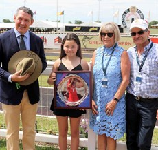 NT Chief Minister Michael Gunner with Kodah Montgomerie and Lee- Anne & Peter Montgomerie